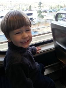 Riding the light rail
